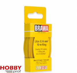 10 meter wire 0.14mm, yellow