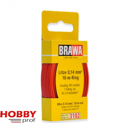 10 meter wire 0.14mm, red