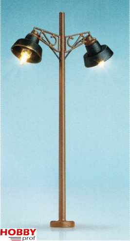 Wooden pole light, 2 lamps