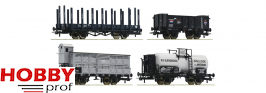 4 piece set: Goods wagons