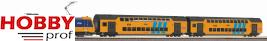 NS BR186 Electric Locomotive + double-decker passenger train startset