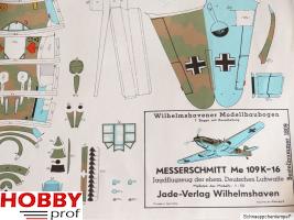 Bouwplaat Messerschmitt Me 109K-16 #1890