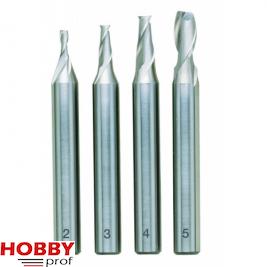 Proxxon Schachtfrezen  2-5mm. 4 stuks 24610