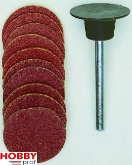 Proxxon Schuurschotel 18mm met 10 schijven