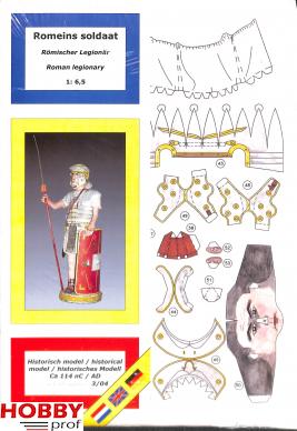 Bouwplaat Romeinse soldaat 1:6,5