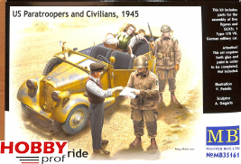Master Box-LTD #35161 US Paratroopers and Civilians, 1945