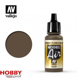 Vallejo model air cam. Medium brown