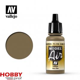 Vallejo model air cam. Grey green