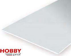 Gladde plaat 152x292 mm - Wit 0.8