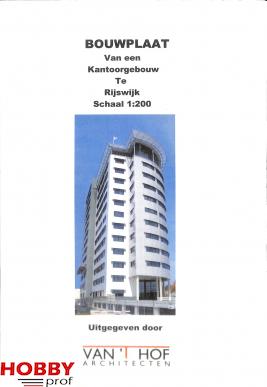 Bouwpolaat van een kantoorgebouw te Rijswijk 1:200