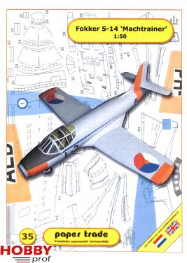 Bouwplaat Fokker S-14 'Machtrainer' 1:50