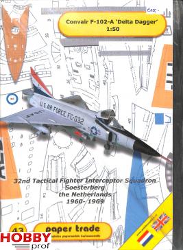Bouwplaat Convair F-102-A 'Delta Dagger'