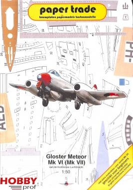 Bouwplaat Gloster Meteor Mk VI (Mk VII)