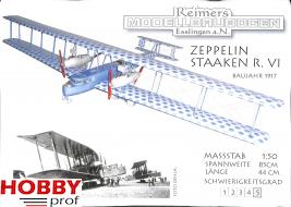 Bouwplaat Zeppelin Staaken R.VI 1:50