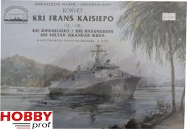 Bouwplaat Korvet Kri Frans Kaisiepo