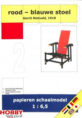Bouwplaat Rood - blauwe stoel 1:6,5