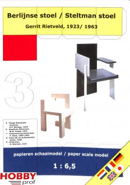 Bouwplaat Berlijnse stoel / Rietman stoel 1:6,5