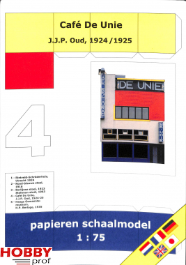 Bouwplaat Café De Unie 1:75