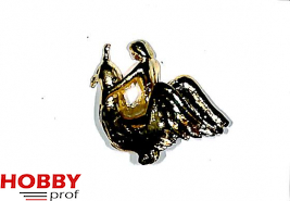 Figurehead naked woman on crowned bird appr. 30x30x15mm