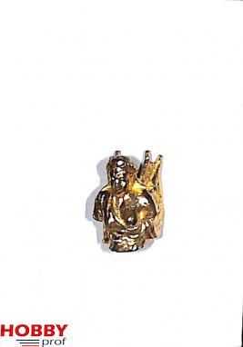 Ship ornament, angel woman torso, h.18mm