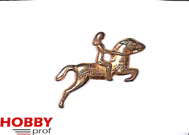 Ship ornament, woman on horse, h.36mm