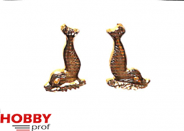 set of fish ornaments (left/right), h.25mm