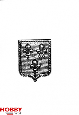 Small coat of arms with three fleur-de-lis,13x18mm