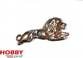 Figurehead jumping lion, h.45mm